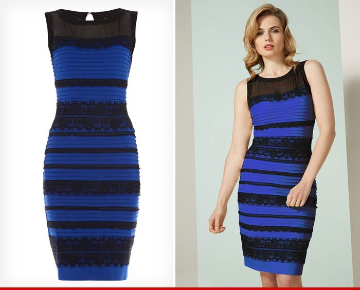 TheDress  Blue/Black White/Gold ... Sales are Through the Roof ...