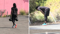 NFL's Chris Johnson -- WORKOUT 'TIL YOU PUKE ... Or At Least Dry Heave!