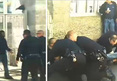 Skid Row Attack -- 4 Cops Take Down Homeless Man ... For Destroying TV Camera