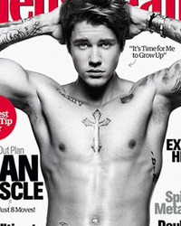 Justin Bieber Covers Men's Health Shirtless, Says It's Time To