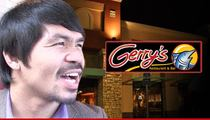 Manny Pacquiao -- Restaurant Offers Free Food For Life ... If He Beats Floyd
