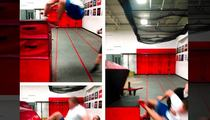J.J. Watt -- Slips On Box Jump ... Takes Out Spotter