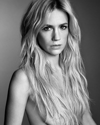 January Jones Goes Topless for The Violet Files Magazine