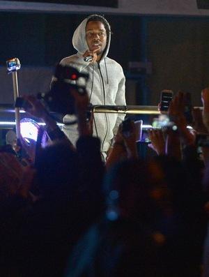 Kendrick Lamar's Street Performance Photos