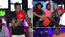 Retired NFLers -- Still Living in the Fast Lane ... Bowling Party With Rap Stars