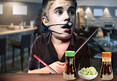 Justin Bieber -- Not My Tempo ... Treats Sushi House To Drum Seshi