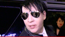 Marilyn Manson -- Punch Me, I'll Sue You ... Vows Revenge for Denny's Fight