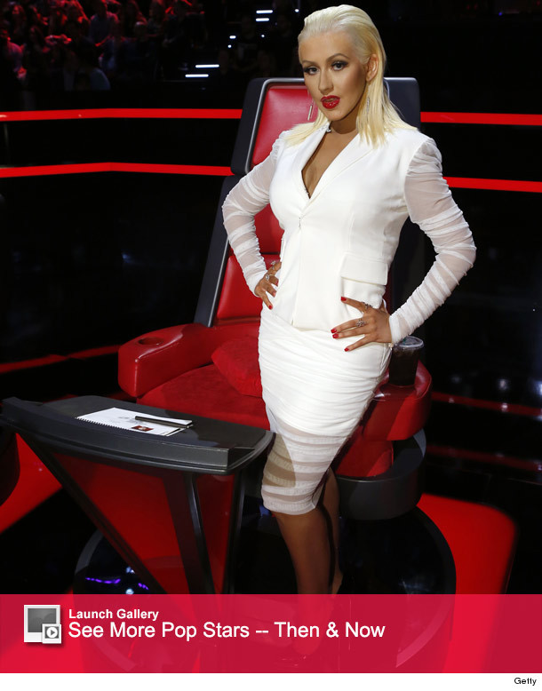 "Christina Aguilera Stuns On ""The Voice"" -- See Her Slim ... Christina Aguilera Beautiful"