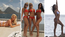 KC Chiefs Cheerleaders -- Slow Mo' Bouncin ... At Tropical Calendar Shoot