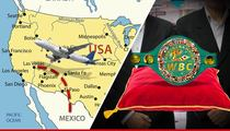 Mayweather vs. Pacquiao -- $1 Million Belt Gets Private Security ... From Mexico to Vegas