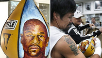 Team Mayweather -- Disses Pacquiao ... Over Mayweather Punching Bag
