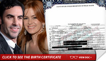Sacha Baron Cohen & Isla Fisher -- Holy Moses ... It's A Boy!!