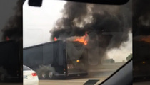 Lady Antebellum -- Tour Bus Bursts Into Flames