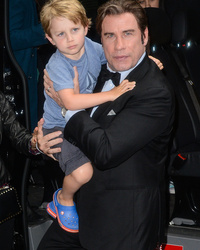 "John Travolta's Son Makes His ""Late Show"" Debut -- See the Cute Clip!"
