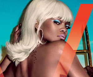 "Rihanna Goes Topless and Flashes Booty in V Magazine, Says She Doesn't ""Give a D*ck"" About Privacy"