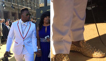 Dante Fowler -- GOLD SPIKED LOUBOUTINS ... At NFL Draft