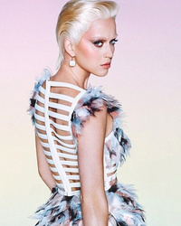 Katy Perry Rocks Super Short Blonde Wig For Wonderland Mag -- Like The Look?!