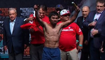 Manny Pacquiao -- Makes Weight ... Pounds Butterfinger