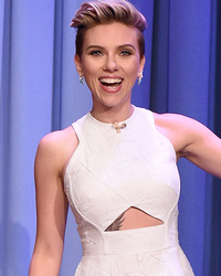 "Scarlett Johansson Teases Never-Before-Seen Tattoo on ""Tonight Show"""