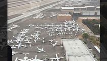 Mayweather/Pacquiao Fight -- G-5 Traffic Jam at Vegas Airport