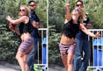 Britney Spears -- Beach Football ... Guess That Ankle Is Okay! (PHOTO)