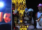 Chris Brown -- Two Huge Falls at Las Vegas Birthday Bash (VIDEO)