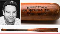 Lou Gehrig -- Game-Used Bat Found ... Family Used for Home Protection