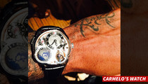 Carmelo Anthony -- Check Out This $565,000 Watch!!! (Update)