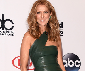 Celine Dion Shows Lots of Leg in Leather at the 2015 Billboard Music Awards