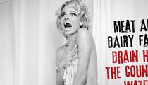 "Pamela Anderson Goes Nude, Reenacts ""Psycho"" Shower Scene for PETA"