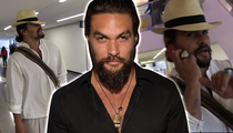 Jason Momoa -- Aquaman Jumps Hipster Shark ... and It's HUGE! (TMZ TV)