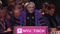 Robert De Niro Tells Art School Grads ...'You're f*****' (VIDEO)