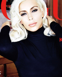 Blonde Bombshell! Kim Kardashian Channels Marilyn Monroe For Vogue Brasil