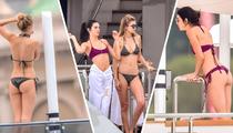 Kendall Jenner & Gigi Hadid -- Bikinis On a Yacht! (TMZ TV)