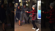Justin Bieber -- I'll Make Love to ... A Newly-Engaged Couple (VIDEO)