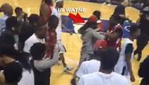 Lil Wayne -- Brawls with Ref Over Bad Calls ... In CHARITY Hoops Game