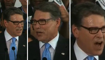Rick Perry -- I Wanna Be President ... But First, Does Anyone Have a Towel? (VIDEO)