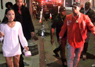 Chris Brown & Karrueche Tran -- Fool Me Thrice ... Leave Club Together, But ... (VIDEO)