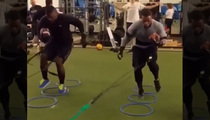 Ray Rice -- Training His Ass Off ... At Elite Fitness Center (Video)