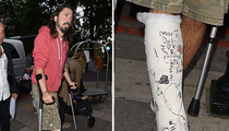 Dave Grohl -- I Got Plastered Good!!! (PHOTO)