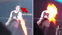 5 Seconds of Summer -- Band Member Torched During Concert (VIDEO)