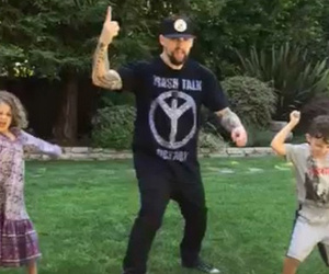 See Joel Madden Rocking Out With Kiddies Harlow and Sparrow For Father's Day!
