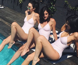 Tanning Twins! Kendall and Kylie Jenner Wear Matching White Swimsuits