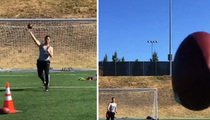 Oakland Raiders Star -- DRILLS CAMERA GUY ... During QB Workout
