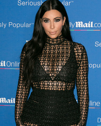 Pregnant Kim Kardashian Sports See-Through Dress After Gaining '15 Pounds' In Her Boobs!