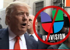 Donald Trump -- Univision Employees Will Be Stopped at the Border ... Of My Golf Club