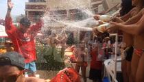 Stanley Cup Champ Kris Versteeg -- Bikini Champagne Spray Down ... At Vegas Bachelor Party