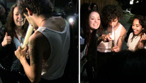 1975 Singer Matthew Healy -- Ripping Bong Hits with Fans on the Sidewalk! (VIDEO)