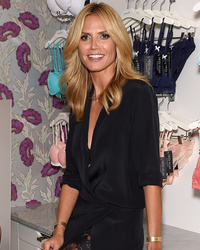Heidi Klum Wears Nothing But Lace Underwear in New Lingerie Ad