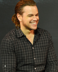 Matt Damon Has Long Hair Now, Rocks a Pony at Press